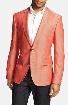 BOSS HUGO BOSS 'Noris' Trim Fit Herringbone Sportcoat available at #Nordstrom