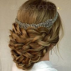 royal bridal updo look from lalasupdos