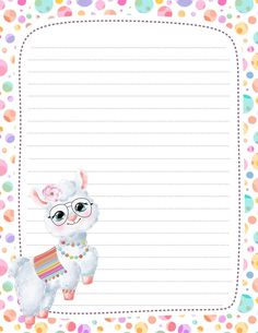Printable Lined Paper, Free Printable Stationery, Stationery Paper, Writing Paper, Adult Coloring Pages, Recipe Cards, Journal Pages, Agenda Book, Paper Crafts