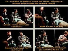 Funny interview with Jensen Ackles, Misha Collins and Jared Padalecki