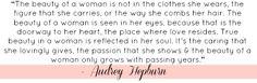 Audrey Hepburn quote on beauty via Arleene Taylor Makeup Artistry