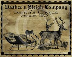 Primitive Vintage Christmas Dasher's Sleigh Co. by Starrmtnprims