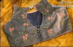 Latest boat neck blouse designs - The Handmade Crafts - Latest boat neck blouse. - Latest boat neck blouse designs – The Handmade Crafts – Latest boat neck blouse designs – Th - Silk Saree Blouse Designs, Fancy Blouse Designs, Bridal Blouse Designs, Blouse Neck Designs, Blouse Styles, Indian Fashion Dresses, Beautiful Blouses, Boat Neck, Handmade Crafts