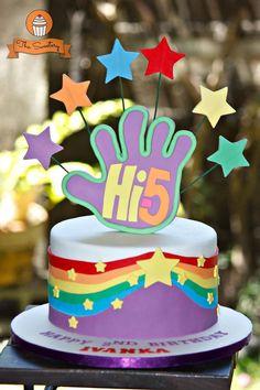Hi-5 rainbow birthday cake!