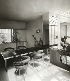 scandinaviancollectors: Charlotte Perriand, Place St Sulpice (1927). (via http://rosswolfe.wordpress.com/2013/12/05/the-modernism-of-charlo...