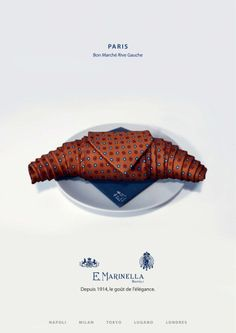Pub : E Marinella...voyageurs gourmands à vos cravates !!
