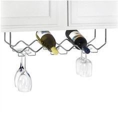 Spectrum Under Counter 6-Bottle Wine Rack with Stemware Holder - Chrome