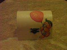 Caixa de Madeira com ursinho (Decoupage)