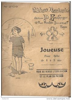 Antique French Children's Sewing Pattern.