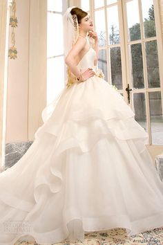 atelier aimee wedding dresses 2014 sabrina strapless ball gown side view