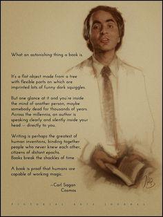 """What an astonishing thing a book is ..."" - Carl Sagan"