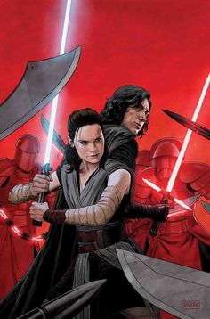 Star Wars: The Last Jedi Adaptation  #5. Cover by Paolo Rivera. On sale August 1st.
