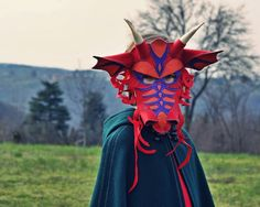Dragon Mask PDF Pattern by oxeyedaisey on Etsy, $7.50