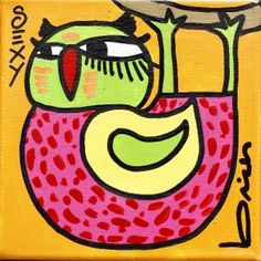 OBRAS : Claudio Baldrich Artista Plastico Lululemon Logo, Doodles, Birds, Logos, Ideas Para, Disney, Doodle Art, Drawings, Hopscotch