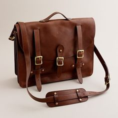"Montague Leather Satchel, would fit my 17"" Macbook Pro, and would wind up with a nice patina over time... $298"