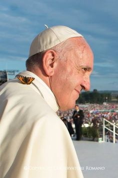 Vanessa del cardo (Vanessa cardui) posata sulla veste bianca del Papa.