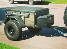 What I want my survival Jeep trailer to look like. Small Camper Trailers, Atv Trailers, Off Road Camper Trailer, Adventure Trailers, Small Trailer, Small Campers, Trailer Build, Car Trailer, Utility Trailer