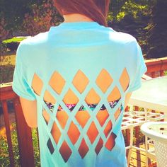 diy triangle cut out tee