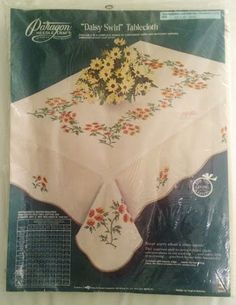Textiles, Linens Yellow Jasmine Vintage Heavily Hand Embroidered Large Doily Or Table Centre