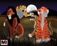 Disney Villains Shere Khan | ... (Tarzan), Zira (The Lion King II), & Shere Khan (The Jungle Book