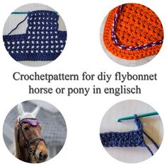 diy fly bonnet, tutorial for earbonnet, horse flybonnet, step by step, crochet tutorial, pony ear bonnet, diy bonnet horse, instruction veil, custom fly bonnet, custom ear bonnet