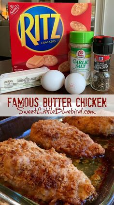 Yummy Chicken Recipes, Meat Recipes, Cooking Recipes, Recipe Chicken, Recipes Dinner, Baked Butter Chicken, Moist Baked Chicken, Dinner Ideas, Chicken Breast With Stuffing Recipe
