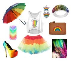 """""""Rainbow outfit"""" by courtneydodson on Polyvore featuring TaylorSays, Casetify and Anya Hindmarch"""