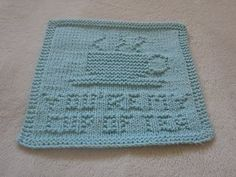 you're my cup of tea dishcloth
