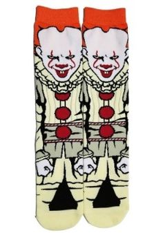 Stephen King/'s IT Penneywise Novelty Cartoon Character 360 Crew Socks