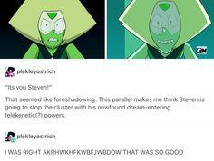 Peridot foreshadowing, Steven Universe