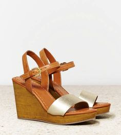 Platinum AEO Two Tone Wedge Sandal