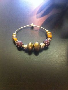 African Trade Bead Bracelet by roxmpls on Etsy, $52.00