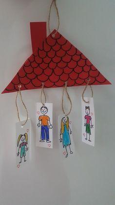 Family Theme Craft Idea Family Theme Craft Idea Craft Ideas Kindergarten Die R . Preschool Family Theme, Family Crafts, Kindergarten Activities, Family Activities, Preschool Activities, Back To School Crafts, Daycare Crafts, Toddler Crafts, Crafts For Kids
