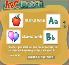 ABC Match Game from Read Write Think.  http://www.readwritethink.org/files/resources/interactives/abcmatch/