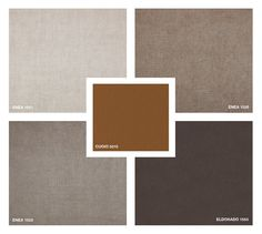 Fabrics: Enea 1521 - 1523 - 1526 Velvet: Eldorado 1553 Hide Leather : Cuoio 5015