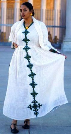 100 Amazing Modern & Traditional Dress (Habesha Kemis/Kemise) of Ethiopia in 2019 — allaboutETHIO Ethiopian Traditional Dress, African Traditional Dresses, Traditional Outfits, Modern Traditional, African Print Skirt, African Print Fashion, African Fabric, Habesha Kemis, Eritrean