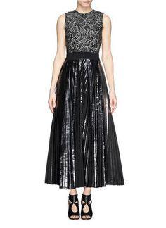 Metallic pleat open back gown #blacktiedress #blacktie #women #covetme #proenzaschouler