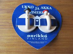 Aarikka Finland Vintage Wooden Wall Decor Man and Woman Signs