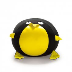 Animals Pinguine Expandable Pouf. Ideal for kids bedroom and playroom. Penguin shape, flamboyant colours nice for every room.