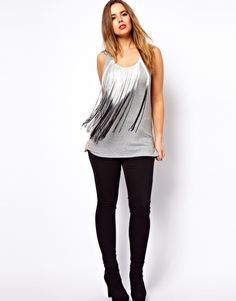 ASOS CURVE Tank With Fringe