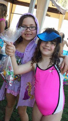 Me and my friend Cullie Swim Birthday Party 2014