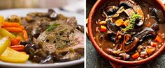 Portobello mushroom or Beef pot roast