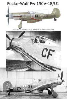 Focke Wulf Fw 190V-18/U1 Ww2 Aircraft, Fighter Aircraft, Military Aircraft, Fighter Jets, Luftwaffe, Focke Wulf 190, Aircraft Painting, Ww2 Planes, Camouflage