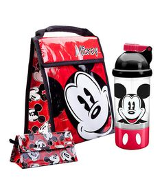 Look at this #zulilyfind! Mickey Mouse Lunch Pack Set by Mickey Mouse #zulilyfinds
