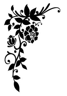 Flowers Wall Art Car Caravan Campervan Motorhome Car Van Sticker Decal Free P&P Made In Yorkshire Easy To Apply (We Send Instructions) Stencil Templates, Stencil Patterns, Stencil Designs, Flower Pattern Drawing, Rose Stencil, Quilling Patterns, Illuminated Manuscript, Illuminated Letters, Silhouette Design
