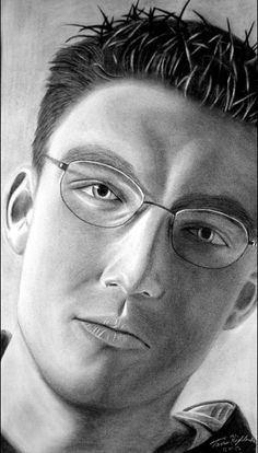 This self-portrait contains some nice shadowing and it also has a very good range of values.