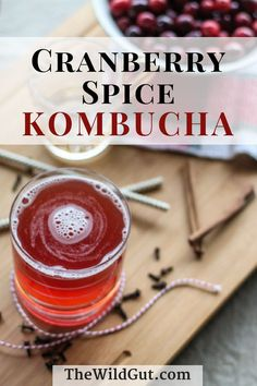 Cranberry Spice kombucha is perfect for fall! Bring this kombucha to the Thanksgiving table or any holiday gathering! Our cranberry spice kombucha recipe is easy to make and tastes like the holidays! Kombucha Flavors, Probiotic Drinks, Kombucha Tea, Flavored Kombucha Recipe, Milk Shakes, Smoothie Drinks, Smoothies, Healthy Drinks, Chow Chow