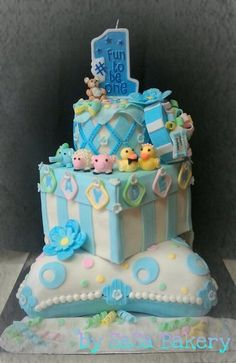 birthday cake - by SaSaBakery @ CakesDecor.com - cake decorating website