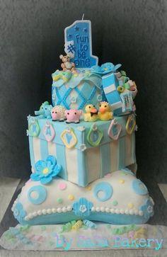 birthday cake - by SaSaBakery @ CakesDecor.com - cake decorating website