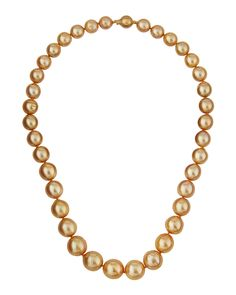 Belpearl 14k Graduating South Sea Pearl Necklace PdaXOGMP